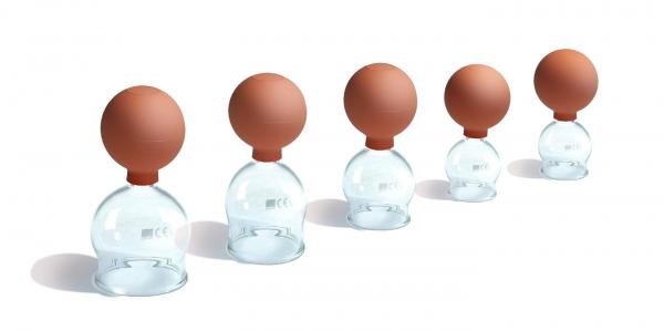 Schröpfglas mit Ball Größe 5