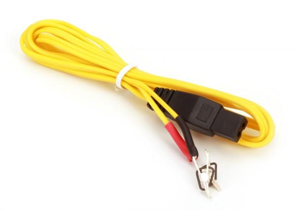 Kabel Typ 7.13, gelb mit Krokoklemmen